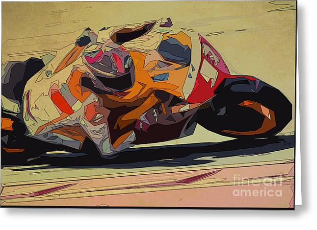 Moto Gp 93 For Men Office Greeting Card by Pablo Franchi