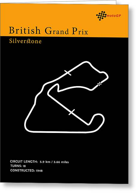 Moto Gp Great Britain Greeting Card by Mark Rogan