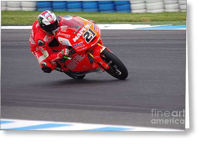 Moto Grand Prix 2015 Greeting Card by Blair Stuart
