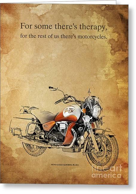 Moto Guzzi California 90 Quote Greeting Card by Pablo Franchi
