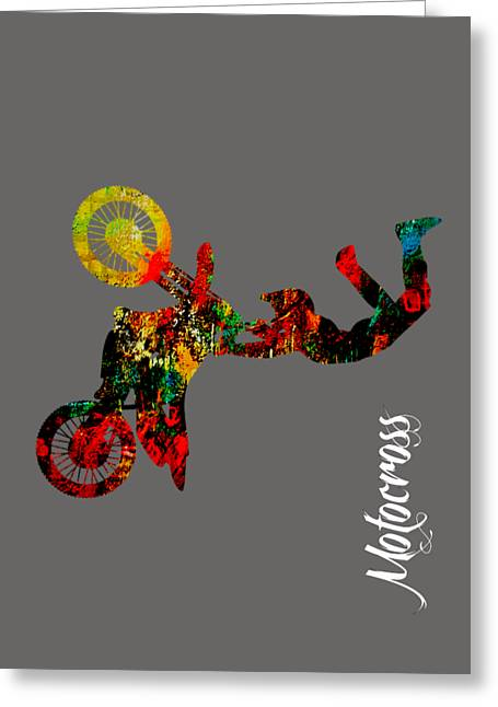 Motocross Collection Greeting Card by Marvin Blaine