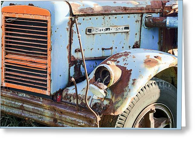 Motor Company White Diesel Truck Greeting Card by Nick Mares