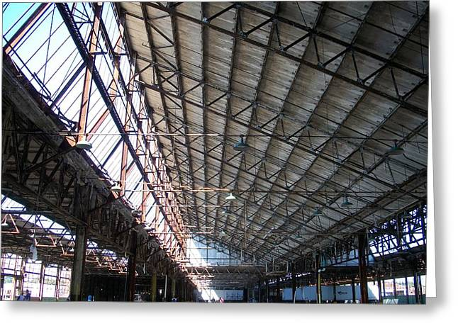 Motor Plant Ceiling And Skylights Greeting Card