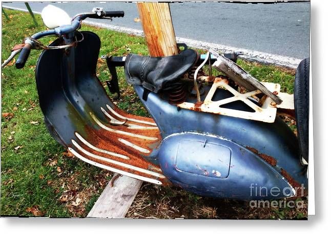 Motor Scooter Blues  Greeting Card by Steven Digman
