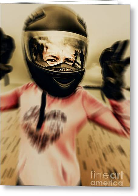 Motorbike Accident  Greeting Card by Jorgo Photography - Wall Art Gallery