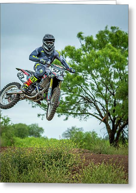 Motocross Aerial Greeting Card
