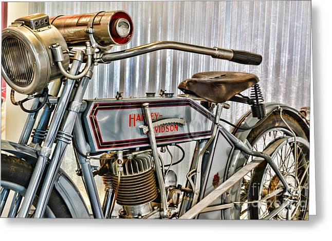 Motorcycle - 1913 Harley Davidson 9a Greeting Card by Paul Ward