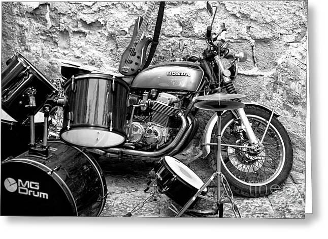 Motorcycle Band Greeting Card