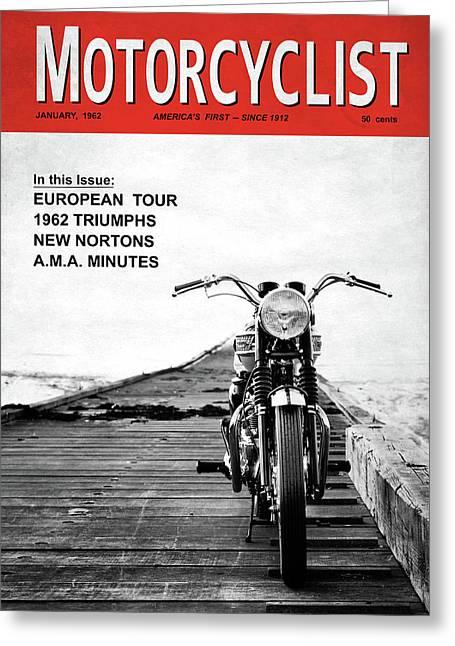 Motorcycle Magazine European Tour 1962 Greeting Card by Mark Rogan