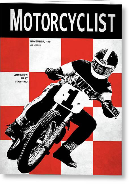 Motorcycle Magazine Number One 1961 Greeting Card