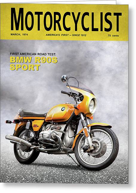 Motorcycle Magazine R90s 1974 Greeting Card