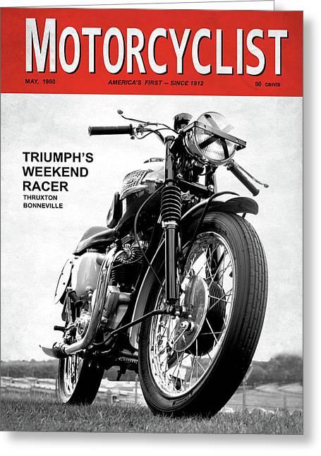 Motorcycle Magazine Weekend Racer 1960 Greeting Card