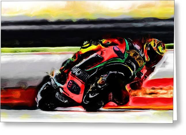 Motorcycle Racing 05a Greeting Card