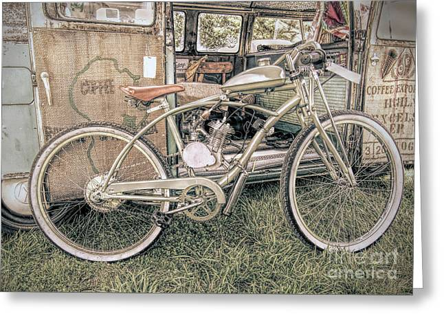 Motorized Bike Greeting Card