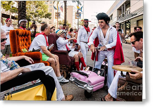 Motorized Recliners And Elvis - Nola Greeting Card
