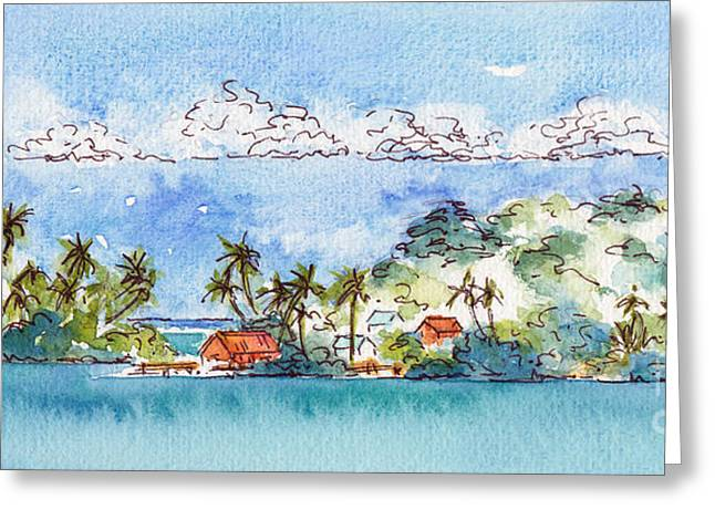 Motu Toopua Bora Bora Greeting Card