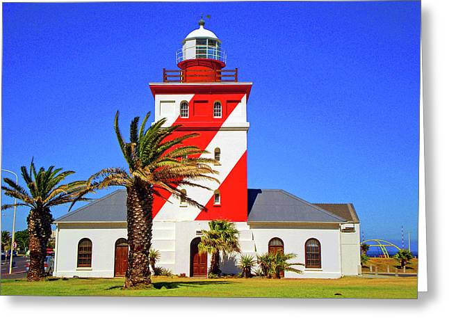 Cape Town Greeting Cards - Mouille Point Light House Greeting Card by Michael Durst