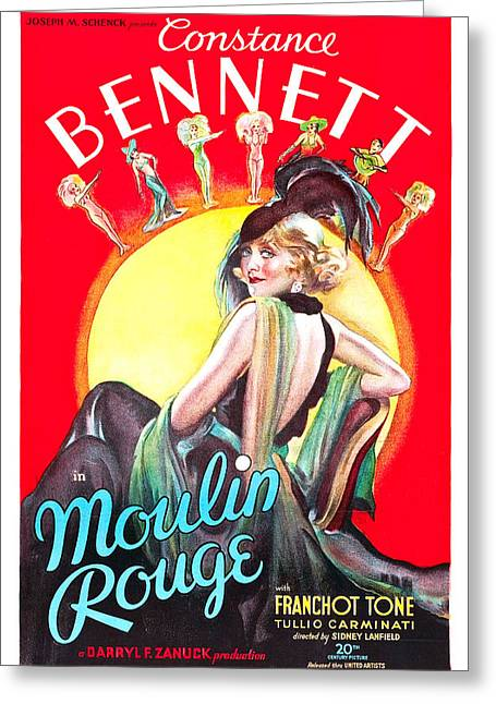 Moulin Rouge 1933 Greeting Card by Mountain Dreams