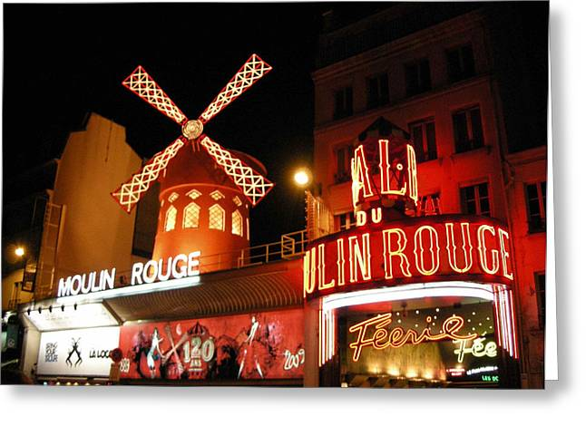 Moulin Rouge Paris Greeting Card