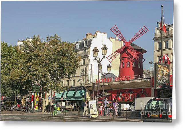 Moulin Rouge Greeting Card by Patricia Hofmeester