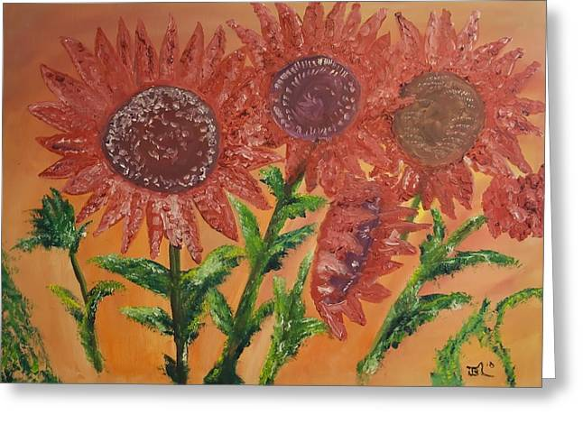 Moulinrouge Sunflowers Greeting Card by James Bryron Love