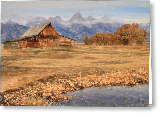 Moulton Barn 2- Grand Tetons Greeting Card by Donna Kennedy