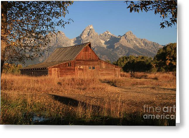Moulton Barn At Sunrise Greeting Card by Edward R Wisell