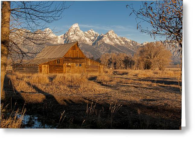 Greeting Card featuring the photograph Moulton Barn by Gary Lengyel