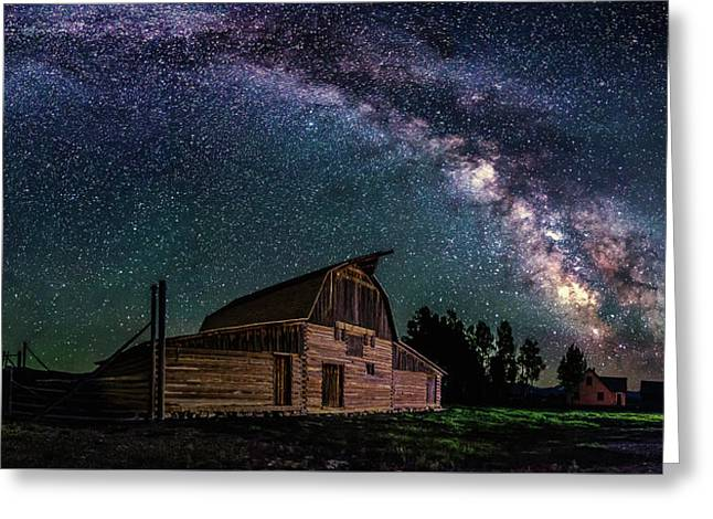 Moulton Barn Milky Way Greeting Card