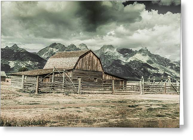 Moulton Barn Panorama Greeting Card