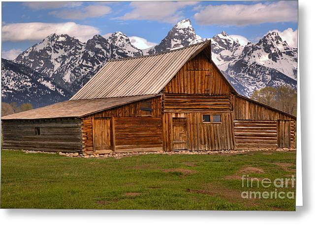 Moulton Barn Spring Landscape Greeting Card by Adam Jewell