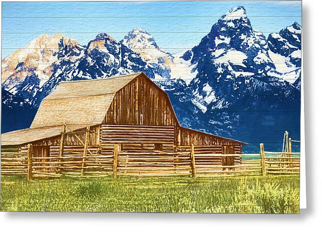 Moulton Barn Wood Panels Greeting Card