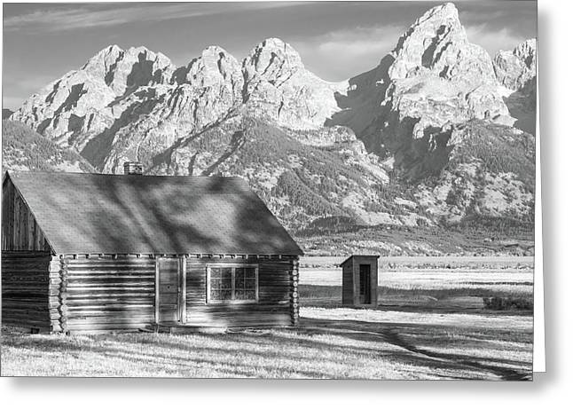 Greeting Card featuring the photograph Moulton Homestead - Bunkhouse by Colleen Coccia