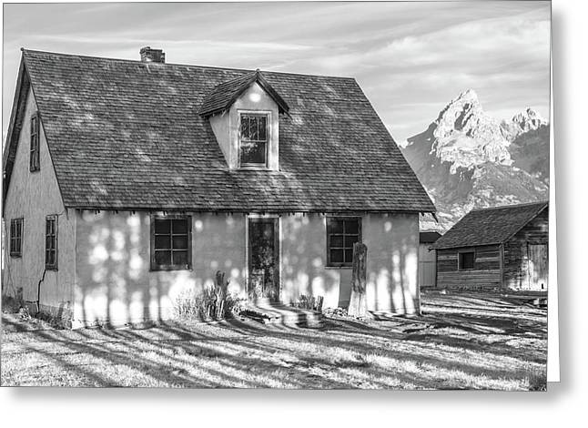 Greeting Card featuring the photograph Moulton Homestead - Pink House by Colleen Coccia