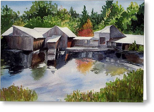 Moulton's Mill Greeting Card by Anne Trotter Hodge
