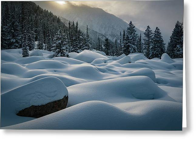 Mounds Of Snow In Little Cottonwood Canyon Greeting Card by James Udall
