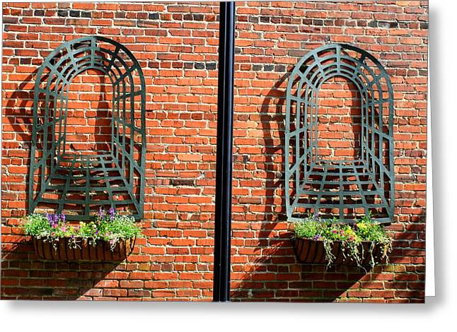 Mount Airy Alleyway Greeting Card by Kathryn Meyer