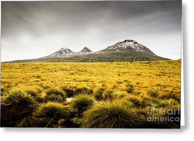 Mount Arrowsmith Tasmania Australia Greeting Card by Jorgo Photography - Wall Art Gallery