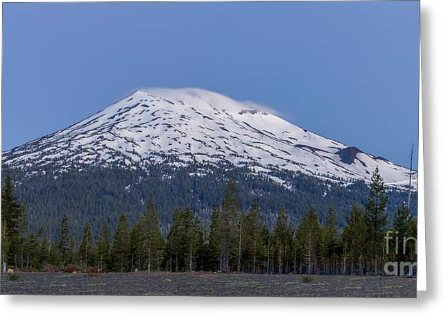 Mount Bachelor At Dawn Greeting Card by Twenty Two North Photography
