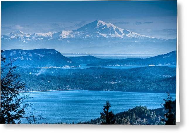 Mount Baker And The Gulf Islands Greeting Card by R J Ruppenthal