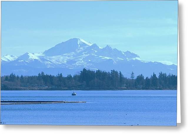 Mount Baker From The Spit Greeting Card by James Johnstone