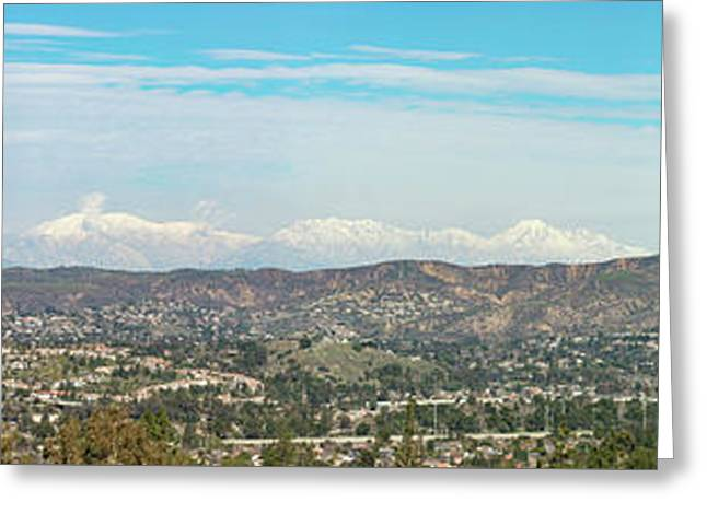 Mount Baldy And Mountain High Greeting Card by Angela A Stanton