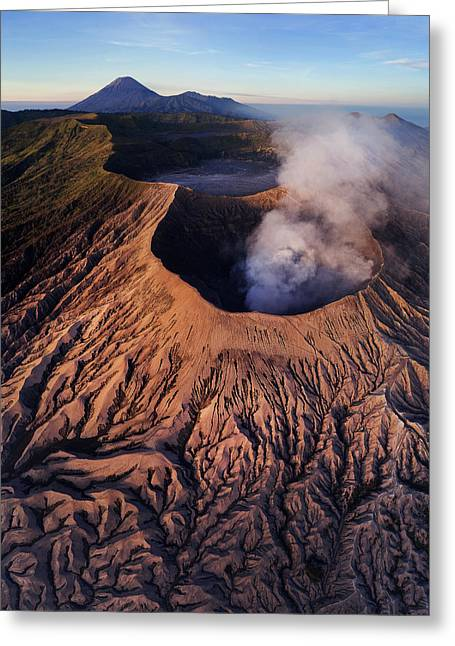 Mount Bromo At Sunrise Greeting Card