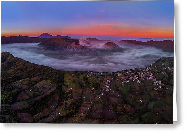 Mount Bromo Misty Sunrise Greeting Card