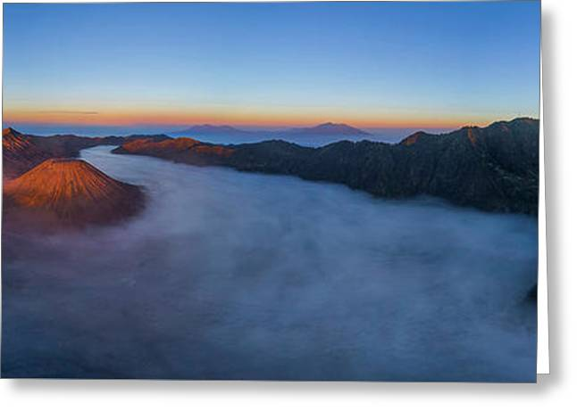 Mount Bromo Scenic View Greeting Card