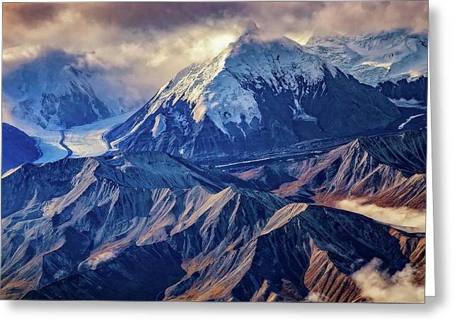 Mount Brooks From Above Greeting Card by Rick Berk