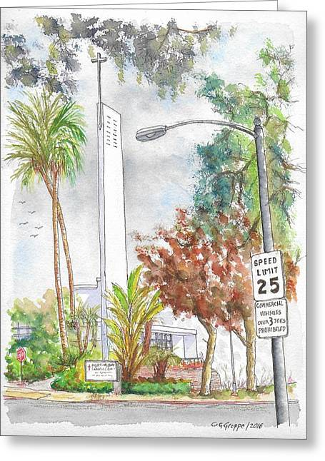 Mount Calvary Lutheran Church, Beverly Hills, California Greeting Card