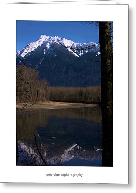 Mount Cheam2 Greeting Card by Peter Classen