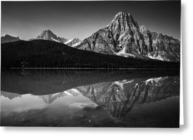 Mount Chephren Reflection Greeting Card