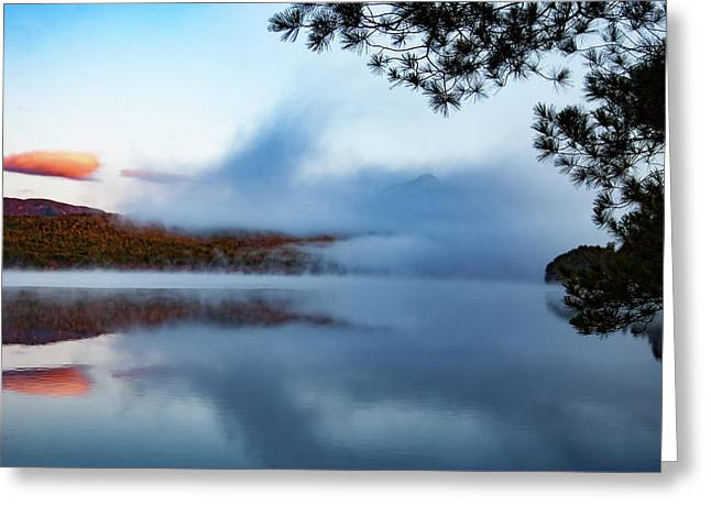 Greeting Card featuring the photograph Mount Chocorua Peeks Above The Fog by Jeff Folger